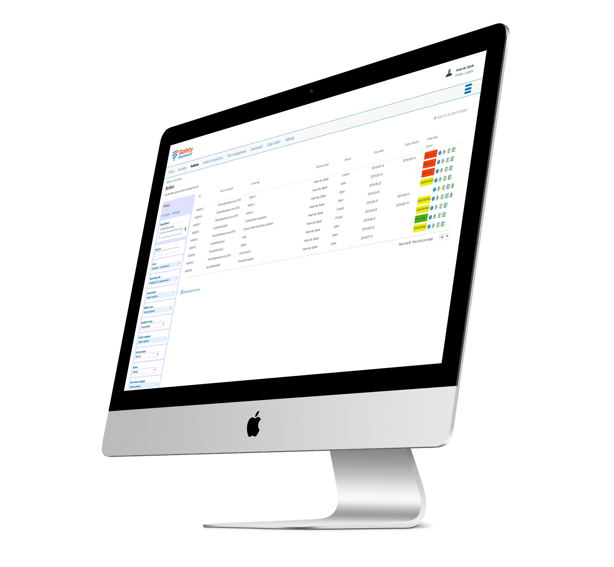 EHS management dashboard software